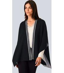 vest alba moda marine::offwhite