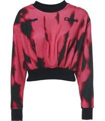 tiger dye crop sweatshirt