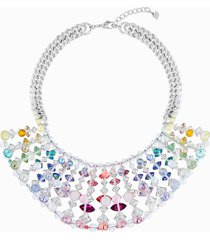 collana neon, multicolore, placcatura rodio