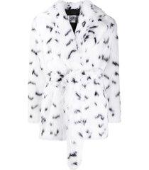 balenciaga dynasty wrap coat - white