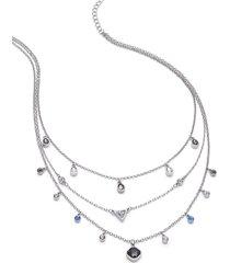 lane bryant women's delicate drops multi-strand necklace onesz night sky