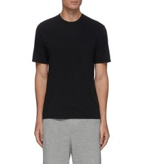 'luxe lotus' crewneck cotton t-shirt