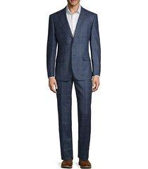 windowpane check wool suit