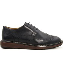 zapatos de amarrar tipo derby negro caprino