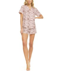 flora by flora nikrooz mary button front top & shorts pajama set