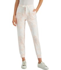 style & co petite tie-dyed joggers, created for macy's
