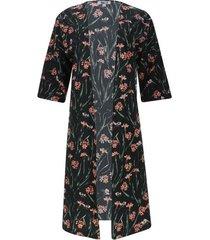 kimono estampado color negro, talla 10