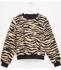 loft lou & grey zebra cozy up sweatshirt