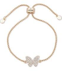 dkny pave butterfly slider bracelet