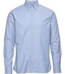 elder ls small owl oxford shirt - g overhemd casual blauw knowledge cotton apparel