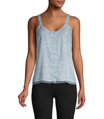 chambray camisole top