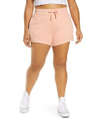 plus size women's bp. french terry lounge shorts, size 3x - pink