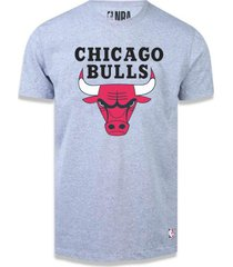 camiseta chicago bulls big logo cinza - nba .