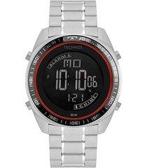 relógio technos digital racer bj3373ab/1p masculino