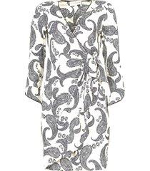 jurk met paisleyprint waves  wit