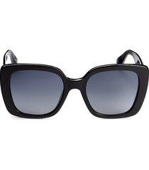 moschino women's 54mm square sunglasses - black