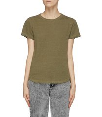 'easy true' distressed linen t-shirt