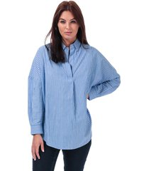 womens bega stripe dip hem shirt