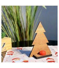 enfeite de mesa natalino pinheiro natalino com vela único