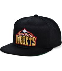 mitchell & ness denver nuggets hwc basic classic snapback cap
