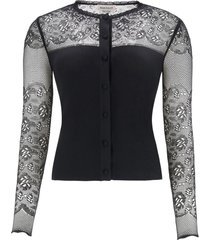 alexander mcqueen cardigan with lace