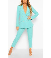 double-breasted blazer & broek set, jade