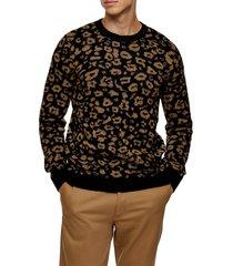 men's topman animal sweater