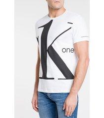 camiseta ckj mc estampa ck one - branco - gg