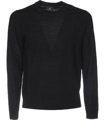 crew-neck pullover in black