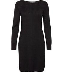 dresses flat knitted gebreide jurk zwart esprit collection