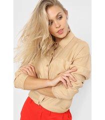 camisa camel nano roma 4421