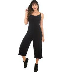 macacã£o racy modas canelado preto - preto - feminino - dafiti