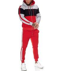 one redox heren joggingpak zwart rood 1082