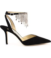 jimmy choo black suede birtie pumps