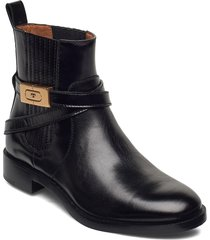 chelsea bootie shoes boots ankle boots ankle boot - flat svart tory burch