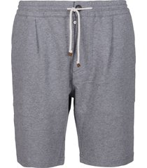 brunello cucinelli grey cotton track shorts