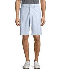 j. lindeberg men's flat-front regular-fit shorts - dark grey - size 40