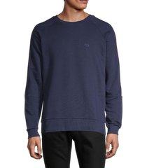 eleven paris men's nouleur m knit crewneck sweatshirt - black iris - size l