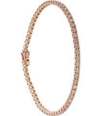 rose gold diamond line tennis bracelet