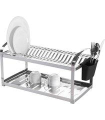 escorredor de pratos brinox inox para 20 unidades prata - prata - dafiti