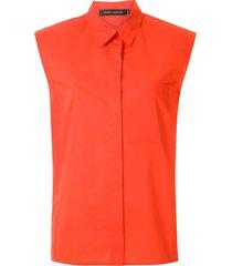 andrea marques structured shoulders shirt - orange