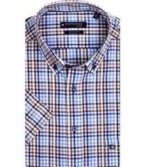 giordano korte mouwen overhemd geruit