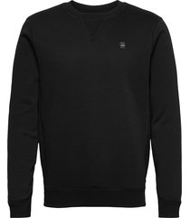 premium core r sw l\s sweat-shirt tröja svart g-star raw