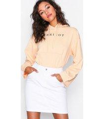 selected femme slfmaya mw denim skirt white w minikjolar