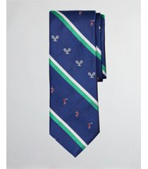 corbata tennis player stripe azul brooks brothers