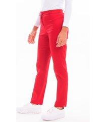 pantalón rojo mia loreto praliné