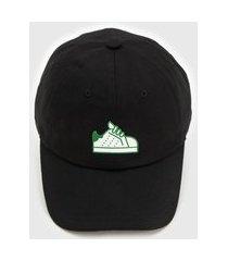 boné adidas originals baseball stan preto