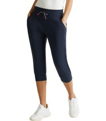 pantalón capri con cintas a rayas e-dry azul marino esprit