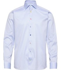 slim fit signature twill shirt - multi-colored buttons overhemd business blauw eton