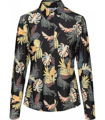 &co woman blouse lotte zwart
